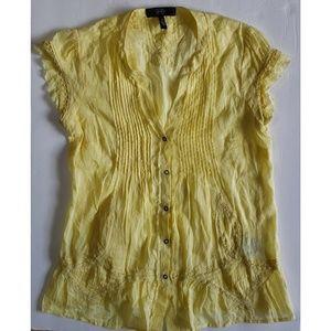 Jessica Simpson Pasadena Cotton Snap Button Blouse